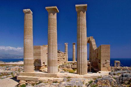 Acropolis in Lindos Rhodes Island