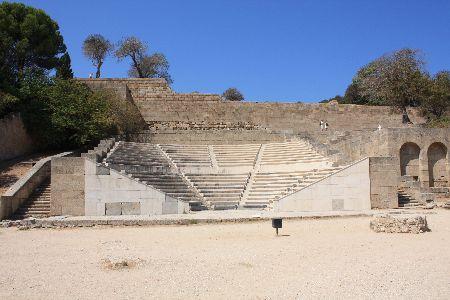 Acropolis of Rhodes Theatre Monte Smith Hill Rhodes