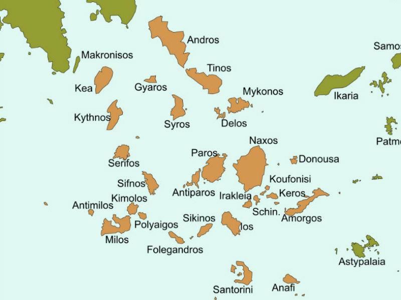Greek Cyclades Islands Northernmost