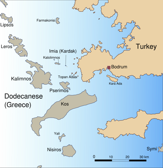 Dodecanese Map