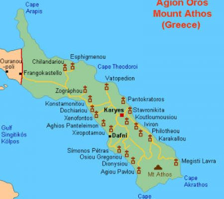 Mount Athos - Athos Map